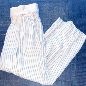 Anthropologie: HEI HEI Striped Linen Joggers
